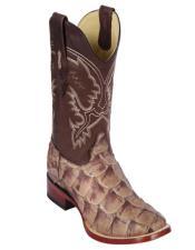 Botas De Pescado Los Altos Boots Pirarucu Cowboy Boots Mink