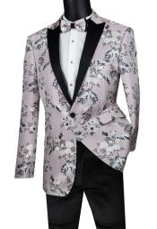 Mens Suit 1 Button Sport Coat Pink Color