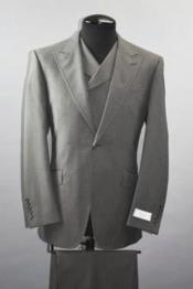 Classic Fit - Pleated Pants - Double Breasted Suits Vest - Peak