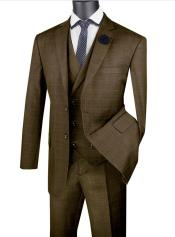 Taupe Mens  2 Button Suit