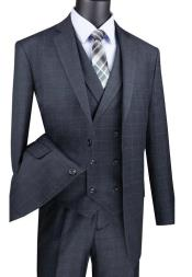 Charcoal Mens  2 Button Suit