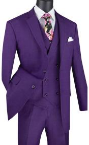 Purple Mens  2 Button Suit