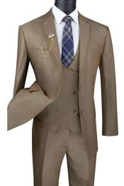 Color 2 Button Single Breasted Suit