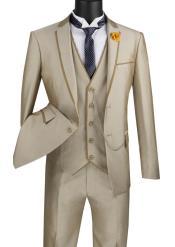 Taupe Color Notch Lapel Suit