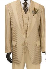 Almond Color Shawl Lapel 2 Button Suit