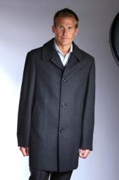 Mens Topcoat Jean-Paul Germain Wool Blend