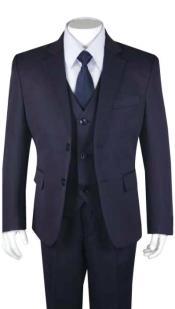 Boys Husky Suit Church Suit Navy