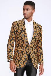 Gold Blazer Slim Fit