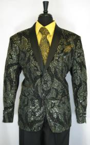 Mens Gold Suit - Perfect for Prom - Church Business Black -