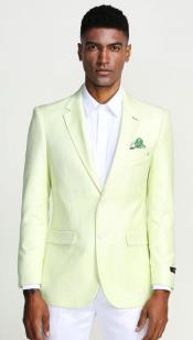 Green Blazer - Light Green Blazer For Men