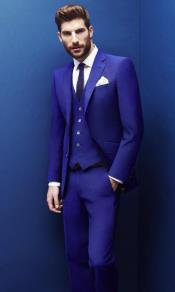 Mens Electric Blue  Suit