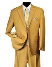 Falcone Mens Mustard Suit