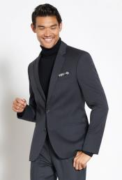Suit Wool Fabric + Free Turtleneck Sweater Package Gray