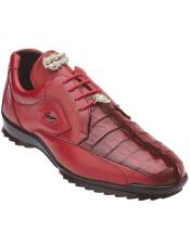 Sneaker Red Crocodile and Soft Calfskin