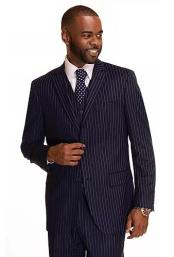 Checkered Patterned Plaid Single Button Navy Rust Suit