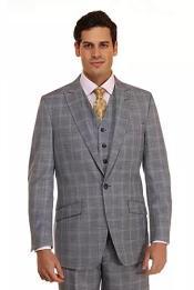 Mens Peak Lapel  Dusty Blue Suit