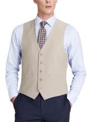 Mens Suit Vest Beige