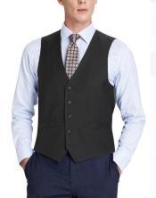 Mens Suit Vest Black
