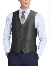 Suit Vest Black (Shark Skin)