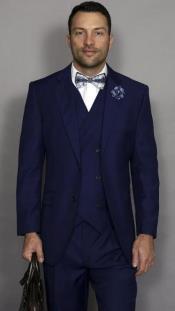 Sapphire Classic Fit Pleated Pants 100% Super Suit