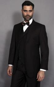 Brown Double Breasted Vest Notch Lapel Suit