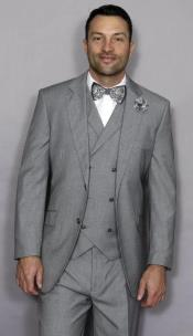 Side Vent 6 Button Vest Classic Fit  Suit