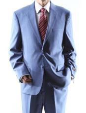 2 Button Power Blue Suit