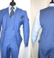Piece Suit For Men Light Blue Pinstripe Suit - Sky Blue