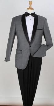Tuxedo - Gray Tux With Charcoal Tuxedo Wedding Tux