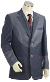 Mens Cotton Fabric Denim blazer