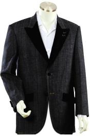 Mens Luxurious Black Zoot Denim blazer
