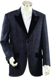 Mens black peaked lapel Denim blazer