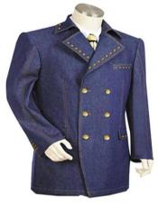 Mens Sleeves with matching buttons Denim blazer