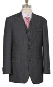 Mens black denim fabric with wide lapels Denim blazer
