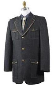 Mens stylish Mens Wide Leg Denim blazer