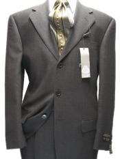 SKU M29 Mens Charcoal Gray 100 Wool 3 Buttons Super 120s Suit 99