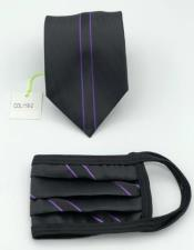 Face Mask And Matching Tie Set Purple