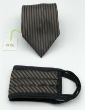 Face Mask And Matching Tie Set Brown