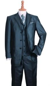 Three Buttons Style Suit Black