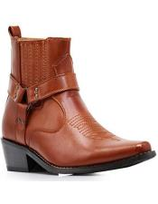 Altos Short Cowboy Boot - Western Ankle Boots Exotic Skin +
