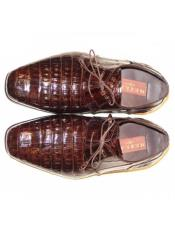 Mezlan Brand Mezlan Mens Dress Shoes Sale Mens Mezlan Brown Genuine Alligator