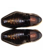 Mezlan Brand Mezlan Mens Dress Shoes Sale Mens Mezlan Black Genuine Alligator