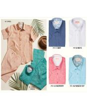 Inserch Premium Linen Short Sleeve Shirts
