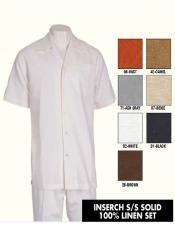 Mens White Giorgio Inserti matching linen shirt
