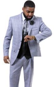 EJ Samuel Suit Fashion Suit Grey