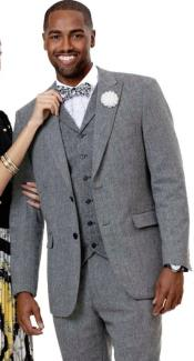 Tweed 3 Piece Suit - Tweed Wedding Suit EJ Samuel Suit Fashion