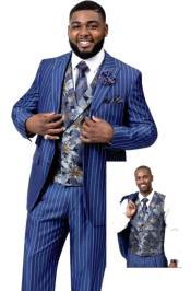 EJ Samuel Suit Fashion Fashion Suit Blue