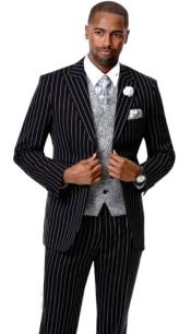 EJ Samuel Suit Fashion Fashion Suit Black
