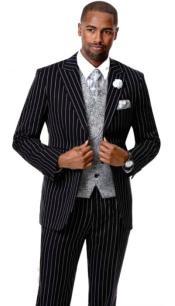EJ Samuel Suit Fashion Fashion Suit Black