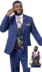 EJ Samuel Suit Fashion Fashion Suit Midnight